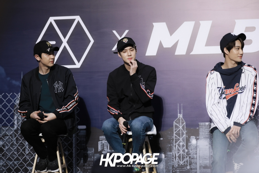 [HK.KPOP.PAGE] 180323_EXO_Chanyeol Kai Sehun_MLB Event_04