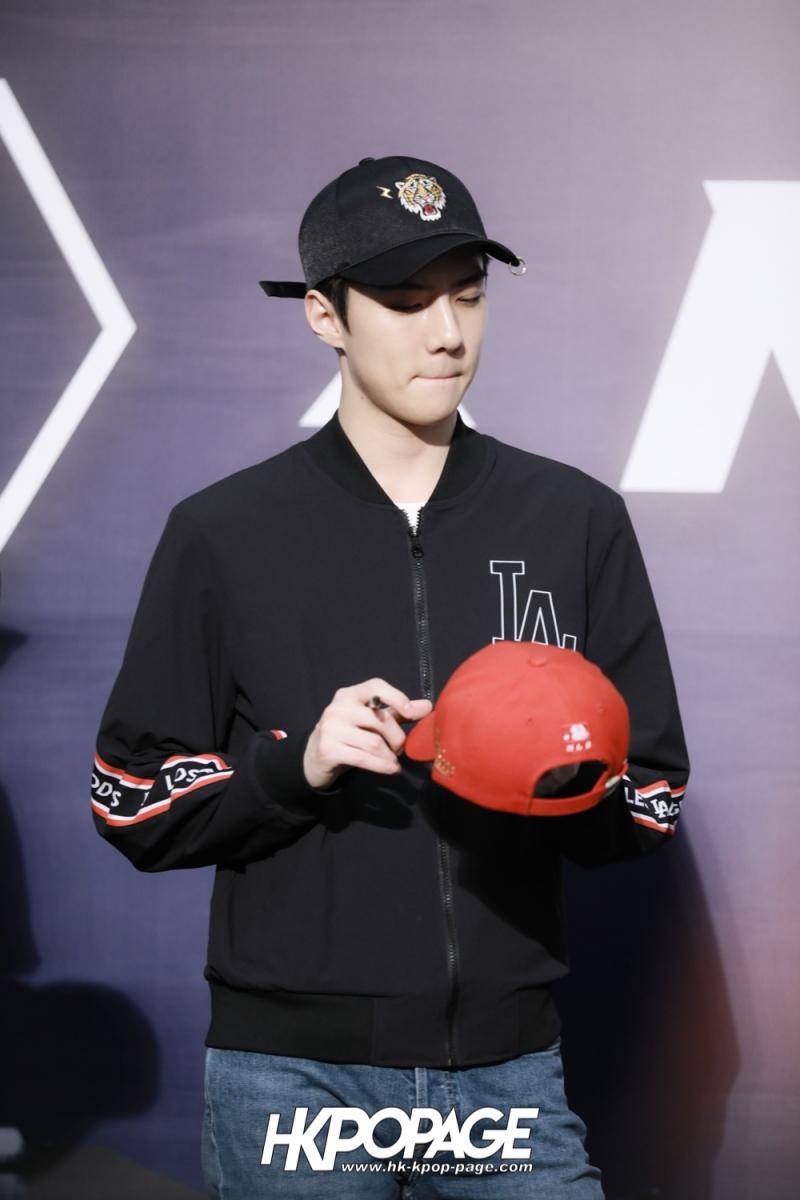 [HK.KPOP.PAGE] 180323_EXO_Chanyeol Kai Sehun_MLB Event_28