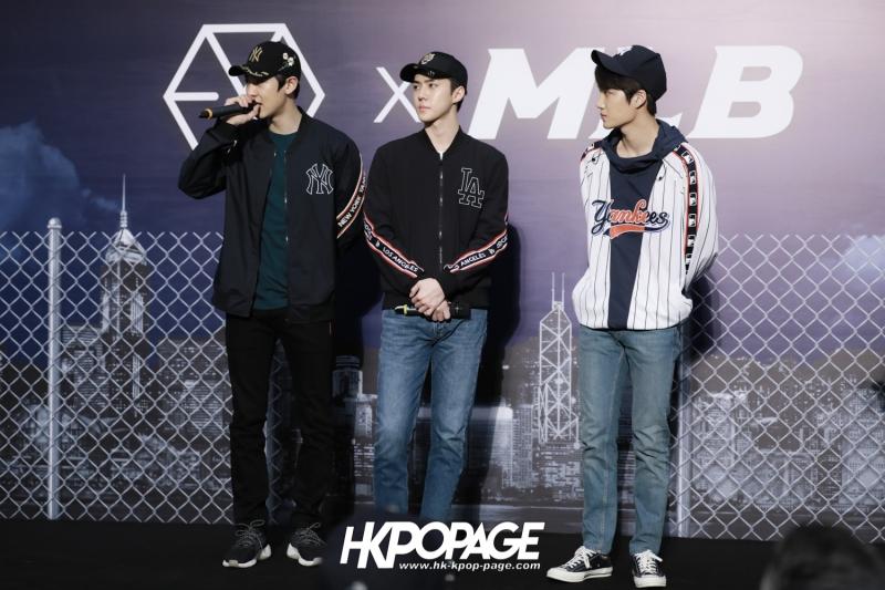 [HK.KPOP.PAGE] 180323_EXO_Chanyeol Kai Sehun_MLB Event_45