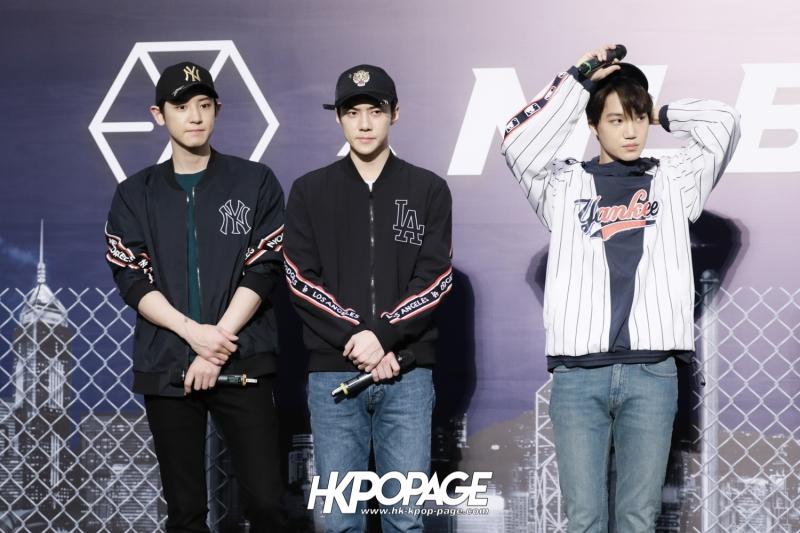 [HK.KPOP.PAGE] 180323_EXO_Chanyeol Kai Sehun_MLB Event_46