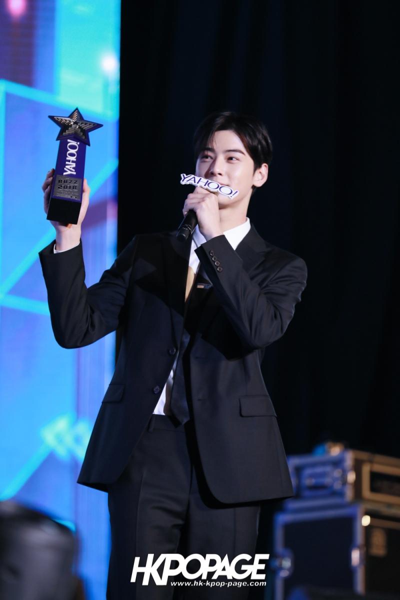 [HK.KPOP.PAGE] 181212_Cha Eun Woo_Yahoo Asia Buzz Awards 2018 presentation ceremony_-19